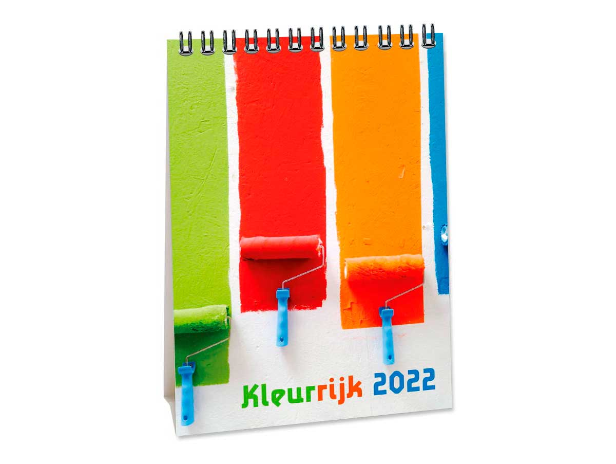 A6 Bureaukalender Colourful 2022