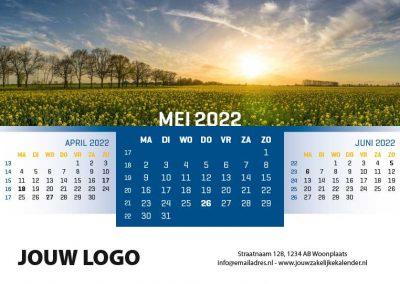 A5 Bureaukalender Panorama 2022