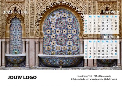 A5 Bureaukalender Wereld 2022