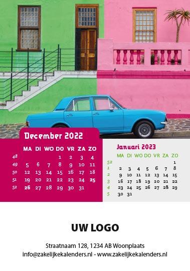 A6 Bureaukalender Kleurrijk 2022