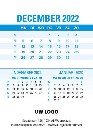 A6 Bureaukalender Data 2022