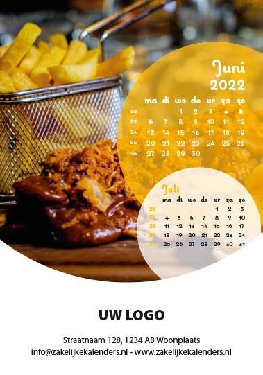 A6 Bureaukalender Food 2022