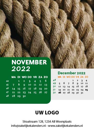 A6 Bureaukalender Patterns 2022